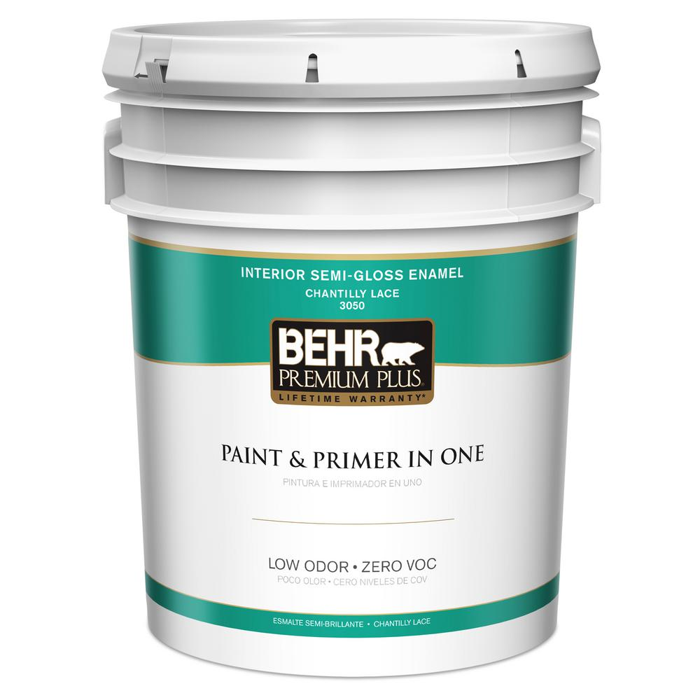 Behr 5 Gal Jw Pp Chantilly Lace Semi Gloss Interior Paint And