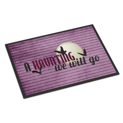 18 in. x 27 in. Indoor/Outdoor A Haunting we will go Halloween Door Mat