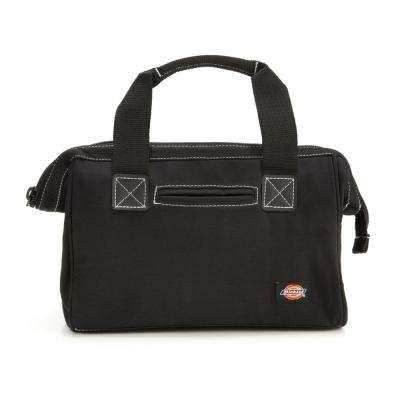 12 in. Soft Sided Construction Work Tool Bag in Black