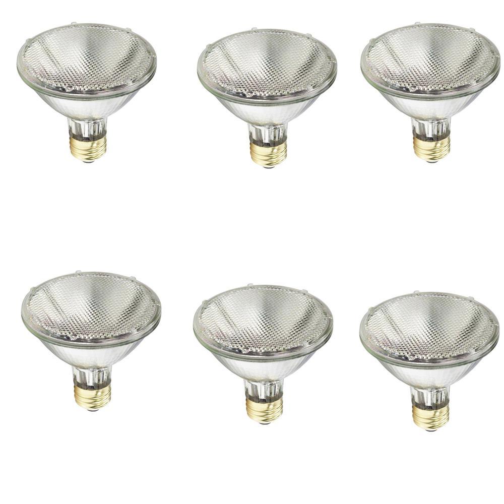 75-Watt Equivalent PAR30S Halogen Indoor/Outdoor Dimmable Flood Light Bulb (6-Pack)