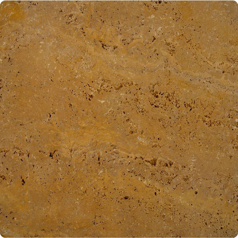 Riviera 16 in. x 16 in. Tumbled Travertine Paver Tile (20