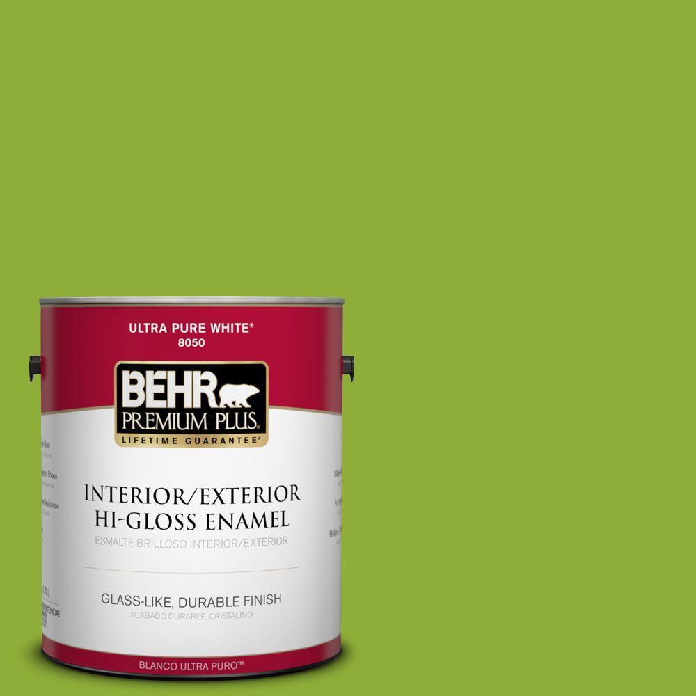 1-gal. #420B-6 New Green Hi-Gloss Enamel Interior/Exterior Paint