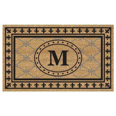 Bungalow 18 in. x 30 in. SuperScraper Vinyl/Coir Monogrammed M Door Mat