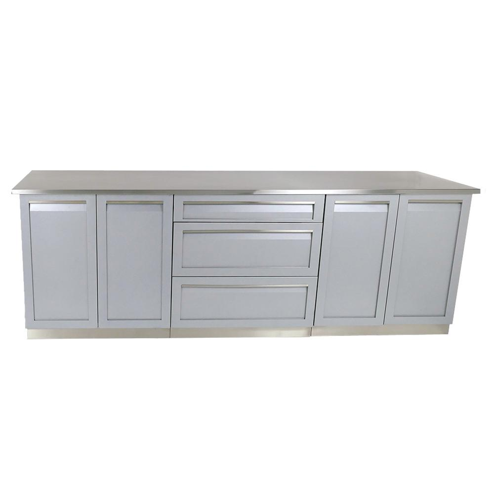 4 piece kitchen cabinets 4 outdoor 98 in x 36 in x 24 in 4 stainless 10251