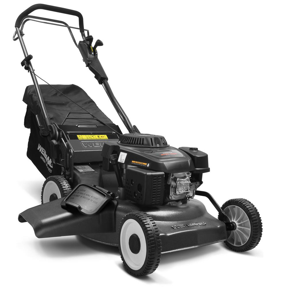 Weibang 21 in. 196cc 4 Stroke Loncin Engine Gas Steel Deck Residential Walk Behind Self Propelled Mower