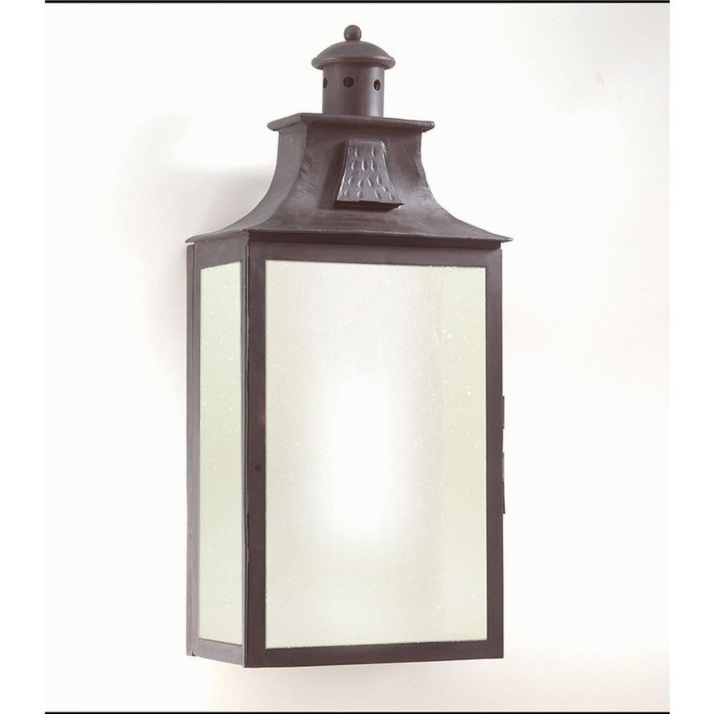 Newton 3-Light Old Bronze Outdoor Wall Mount Lantern