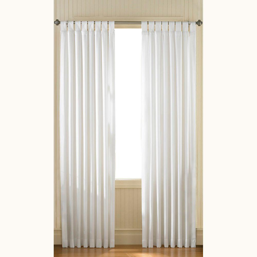 Curtainworks Semi-Opaque Ivory Cotton Canvas Tab Top Panel - 54 in. W x 84 in. L