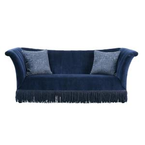 Acme Furniture Kaffir Dark Blue Fabric Sofa 53270 - The Home ...