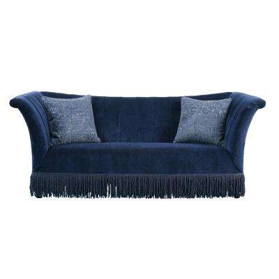 Kaffir Dark Blue Fabric Sofa