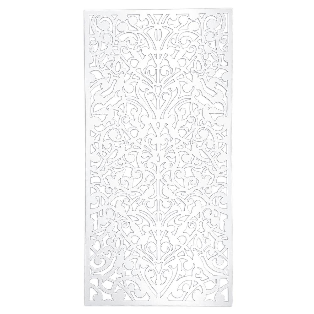 0.25 in. x 48 in. x 8 ft. White Vinyl Ginger