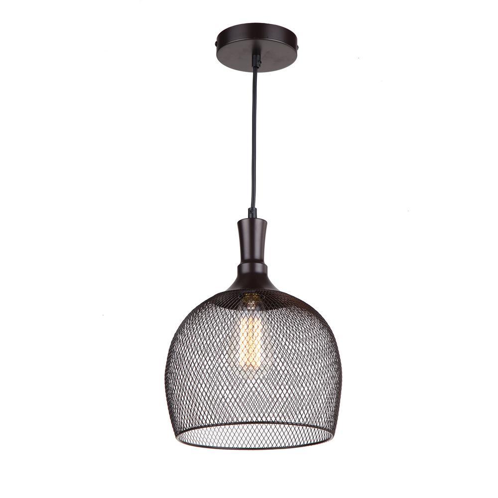 1-Light Ebony Bronze Pendant