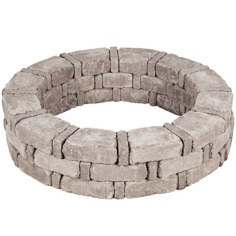 46 in. x 10.5 in. RumbleStone Tree Ring Kit in Greystone