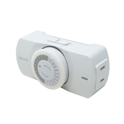 24 Hour Indoor Plug-In Polarized Outlet Mechanical Timer