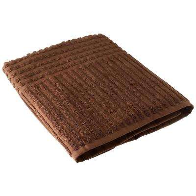 Piano Collection 27 in. W x 55 in. H 100% Turkish Cotton Luxury Bath Towel in Brown (Set of 4)