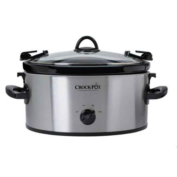 Crock-Pot 6 Qt. Stainless Steel Slow Cooker with Locking Lid SCCPVL600-S