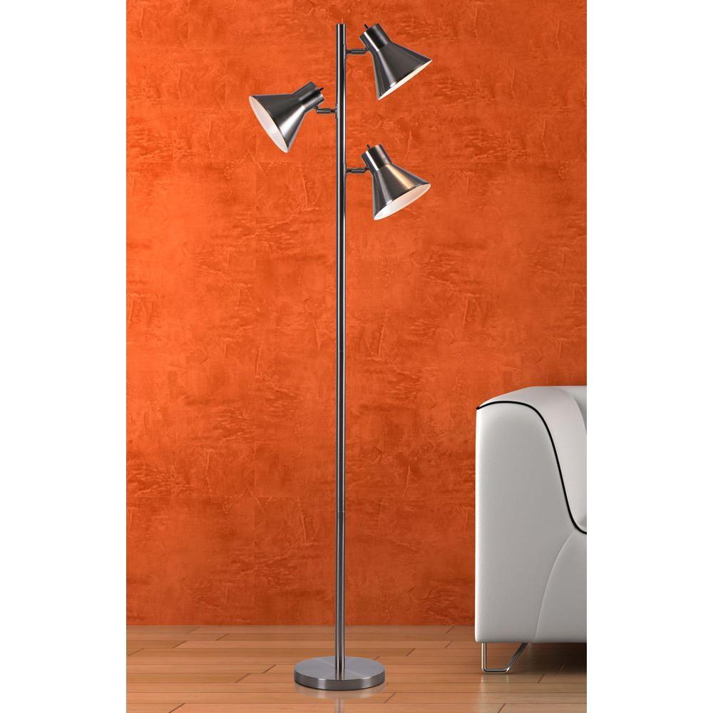 Brushed Steel Finish Kenroy Home Ash Tree Lamp