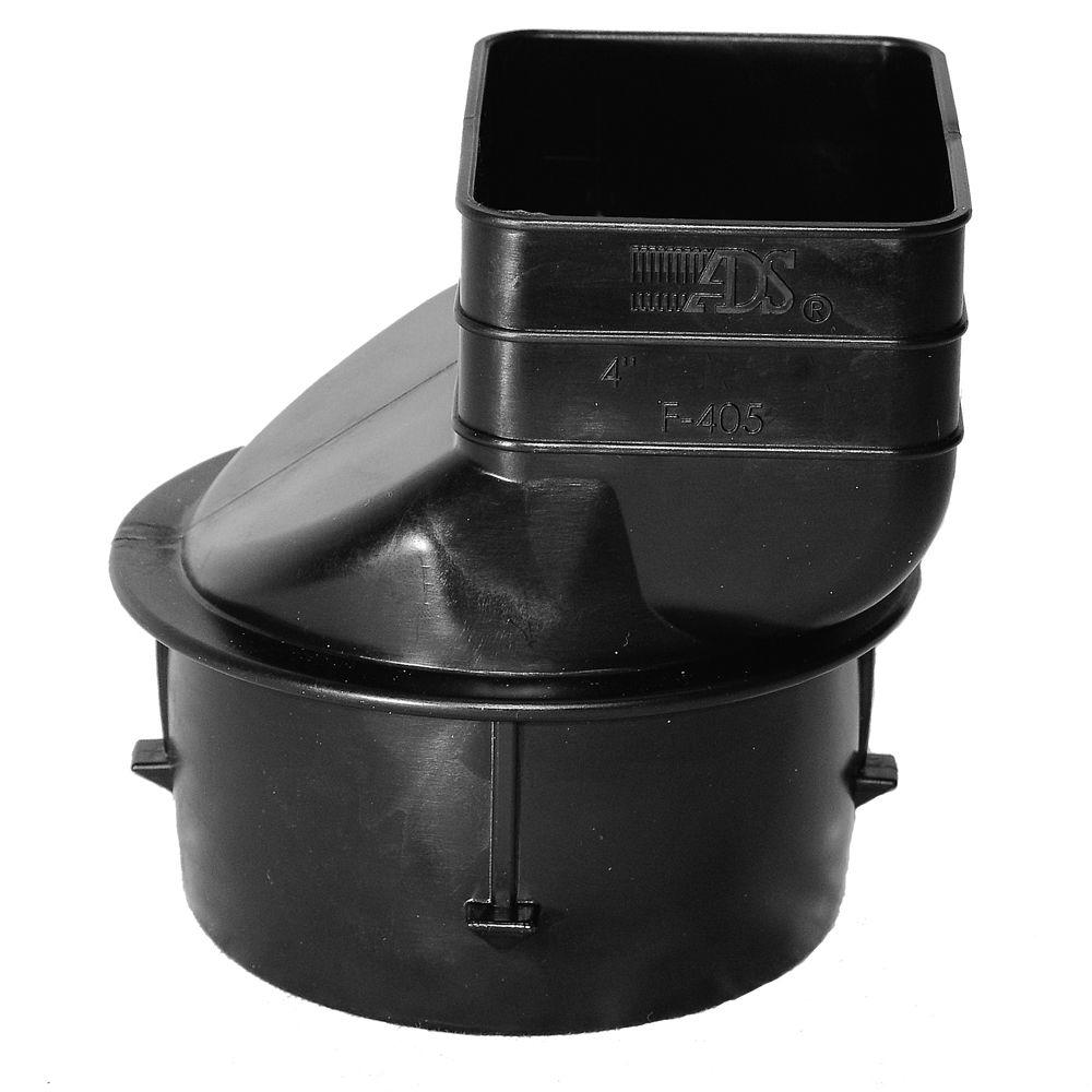 Advanced Drainage Systems 4 in. x 4-1/4 in. x 3 in. Polyethylene Slip Downspout Adapter