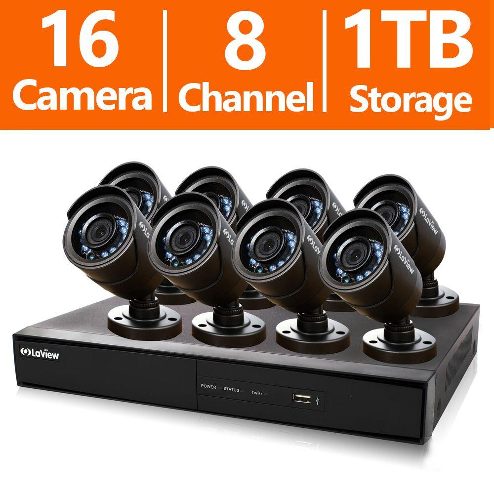 LaView 16-Channel 960H Indoor/Outdoor Surveillance System with 1TB HDD and (8) 600TVL Camera