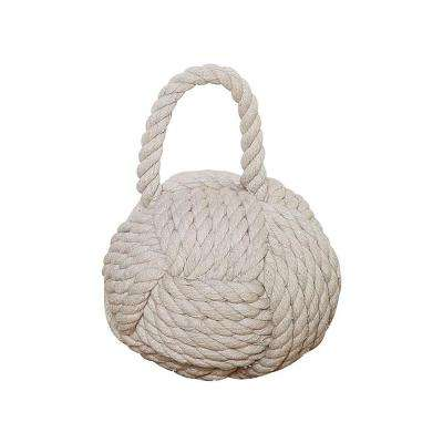 Tan Rope and Sand Knot Door Stop