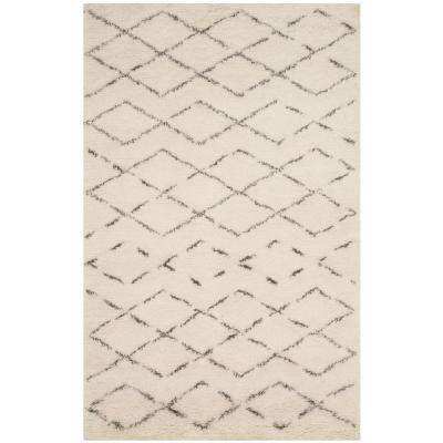 Casablanca Ivory/Gray 6 ft. x 9 ft. Area Rug