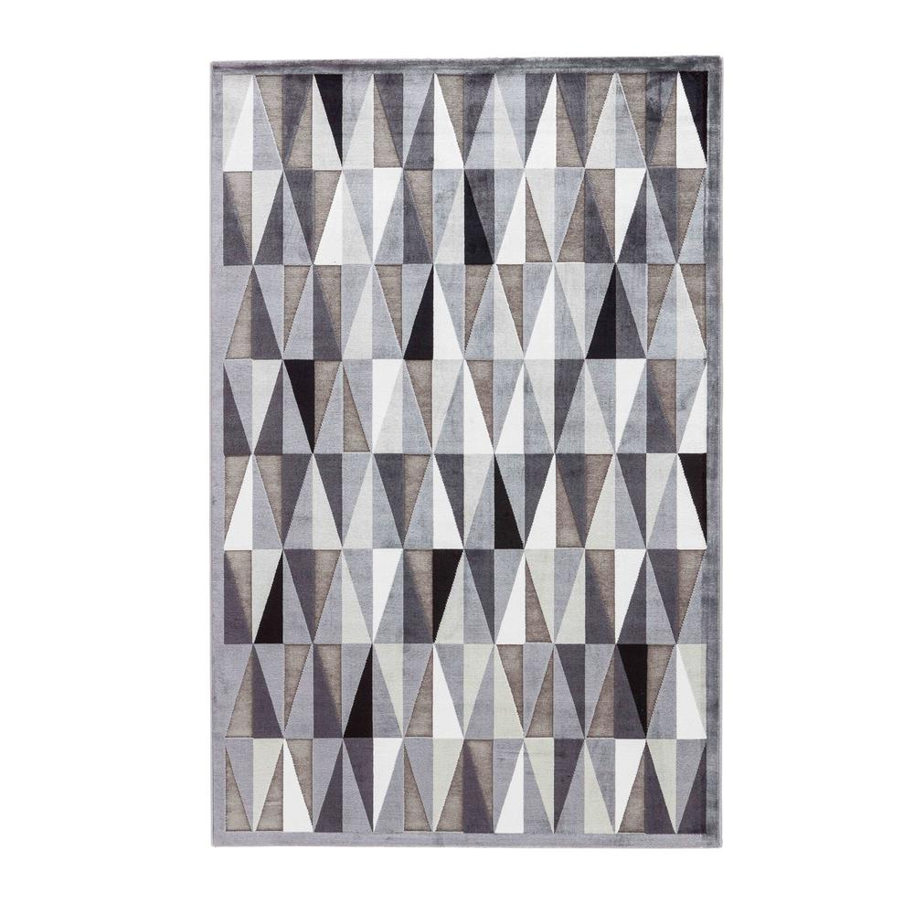 Machine Made Frost Gray 2 ft. x 3 ft. Geometric Area