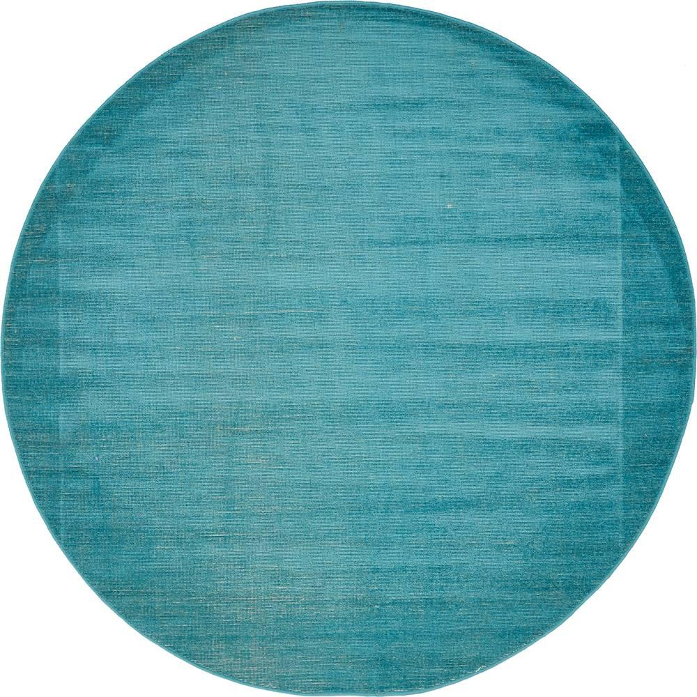 Unique Loom Williamsburg Teal 5 X Round Rug