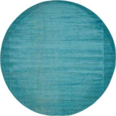 Williamsburg Solid Teal 5' 0 x 5' 0 Round Rug