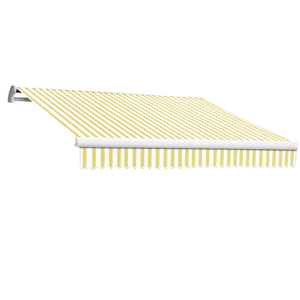 AWNTECH 14 ft. Maui-LX Right Motor Retractable Awning with Remote (120 in. Projection) in Yellow/White