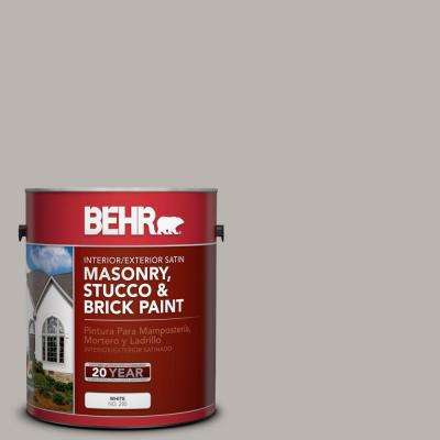 1-gal. #MS-84 French Gray Satin Interior/Exterior Masonry, Stucco and Brick Paint