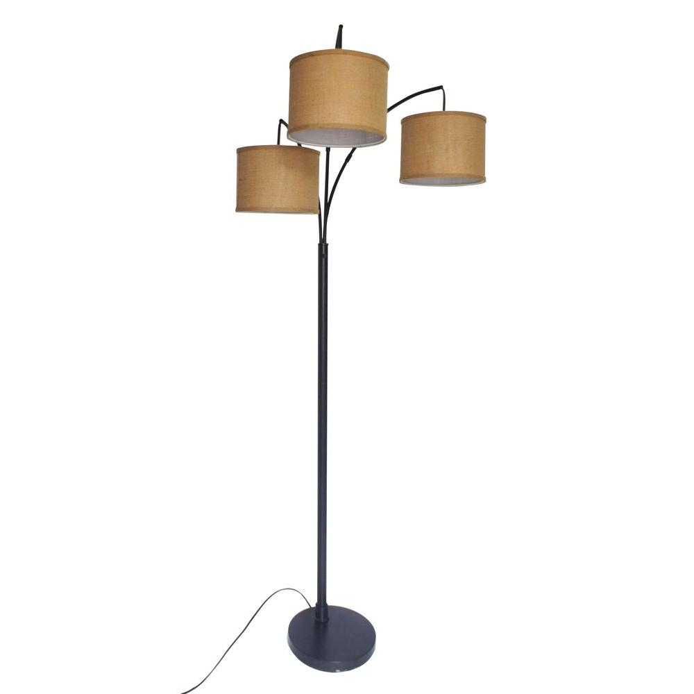 Adesso 80 In Antique Bronze 3 Arc Floor Lamp Af40818ab