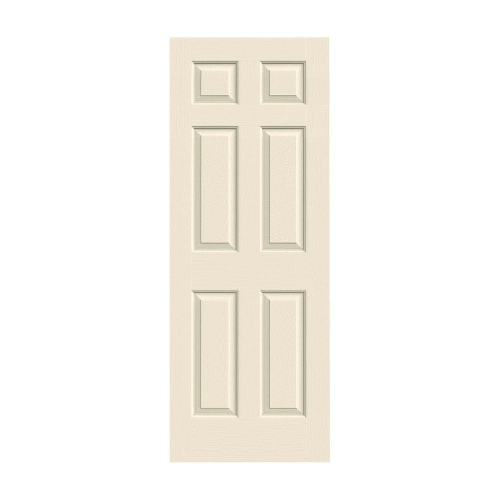 JELD-WEN 24 in. x 80 in. Colonist Primed Textured Solid Core Molded Composite MDF Interior Door Slab