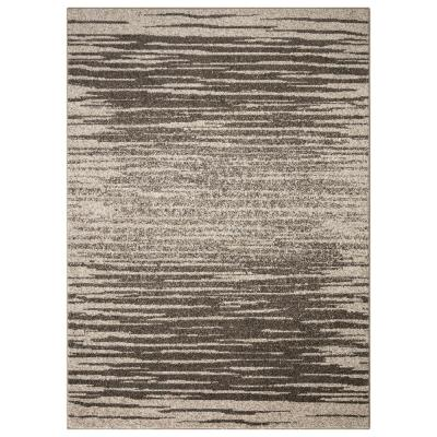 Casa Collection Striped Design Beige 5 ft. 3 in. x 7 ft. 6 in. Area Rug