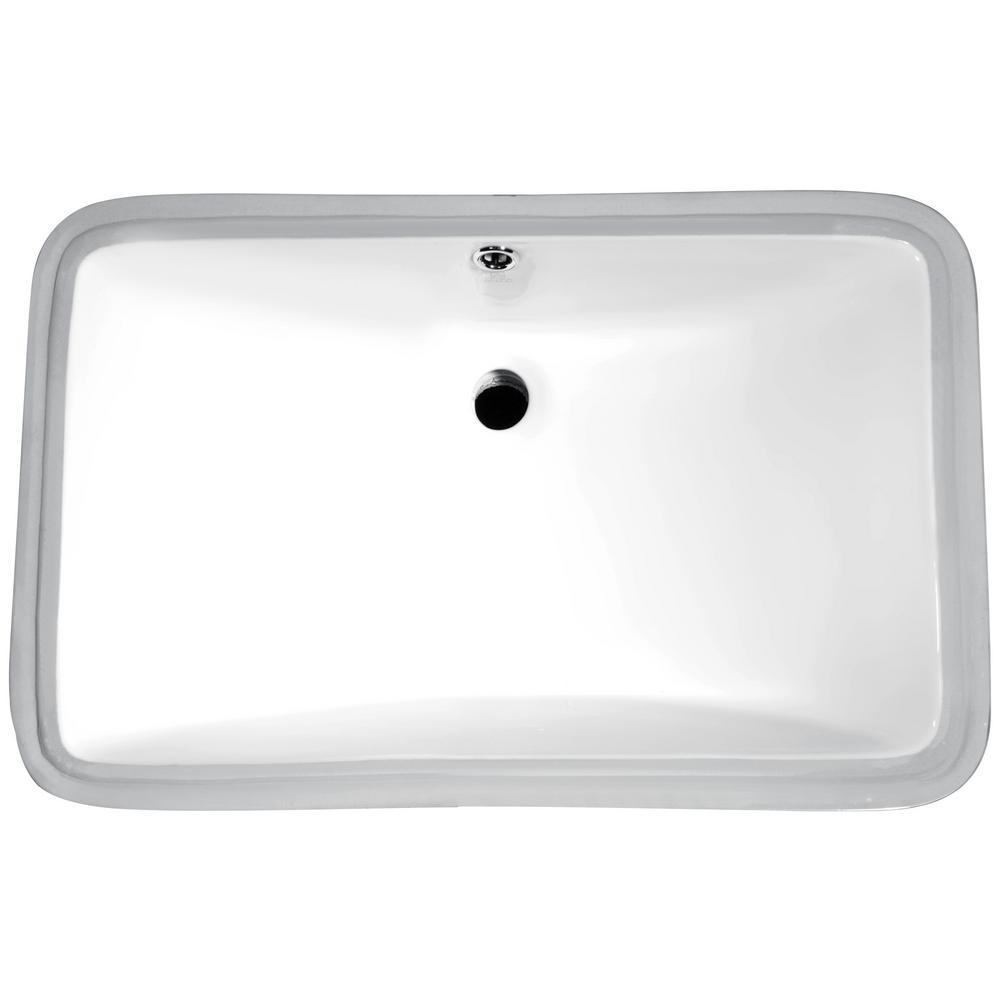 ANZZI Dahlia Series 7.5 in. Ceramic Undermount Sink Basin in White ...