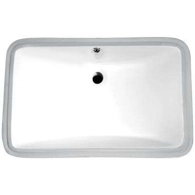 Dahlia Series 7.5 in. Ceramic Undermount Sink Basin in White