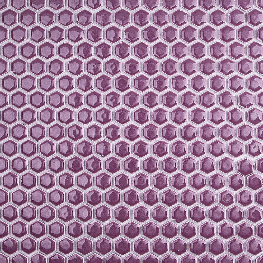 Splashback Tile Bliss Edged Hexagon Plum 12 In X 10 Mm
