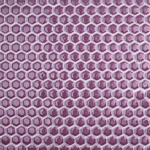 Splashback Tile Bliss Edged Hexagon Plum 12 In X 12 In X