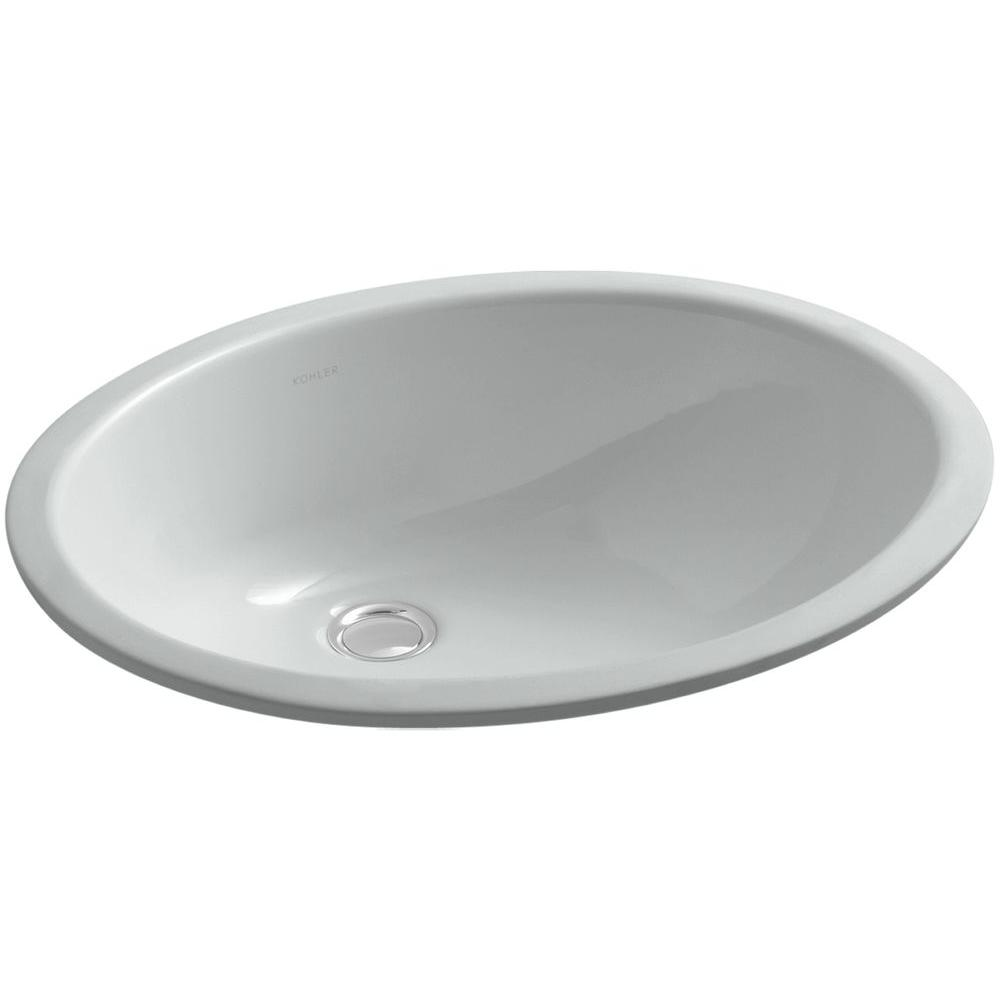 Caxton Vitreous China Undermount Bathroom Sink with Overflow Drain in Ice