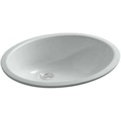 Caxton Vitreous China Undermount Bathroom Sink with Overflow Drain in Ice Grey with Overflow Drain