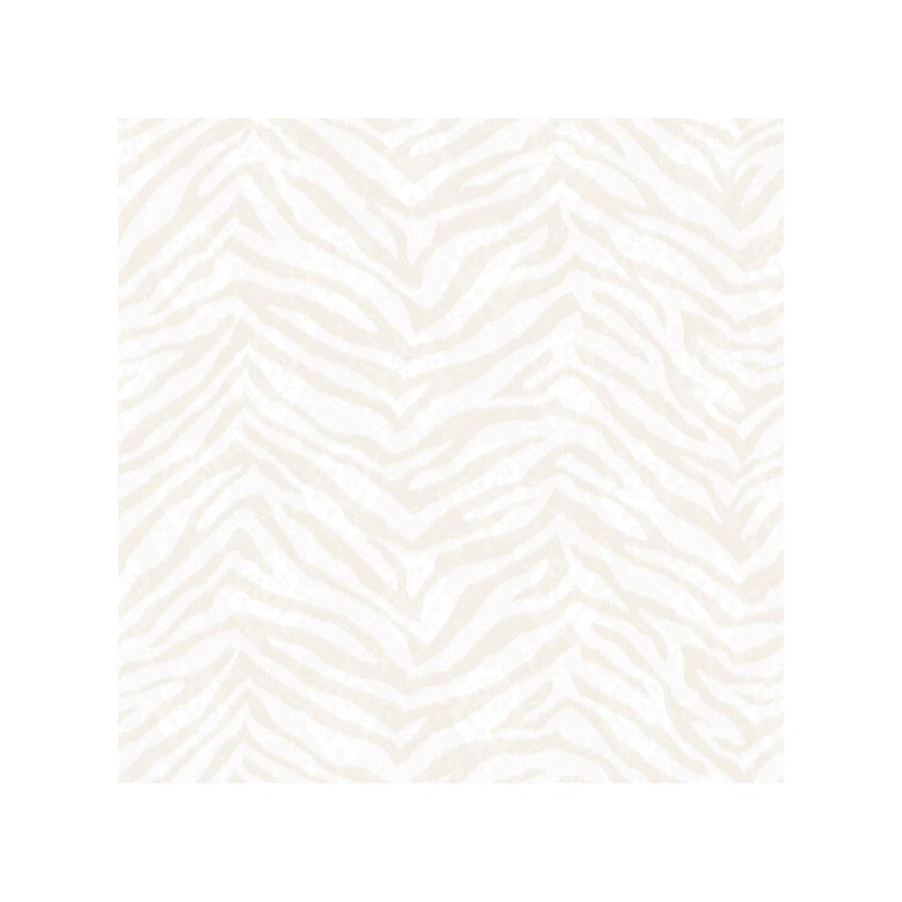 Chesapeake Mia Bone Faux Zebra Stripes Wallpaper Sample CHR11675SAM