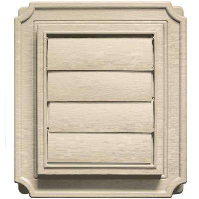 7.875 in. x 7.875 in. #049 Almond Scalloped Exhaust Siding Vent