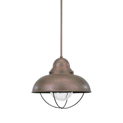 Sebring Weathered Copper Integrated LED Hanging Pendant
