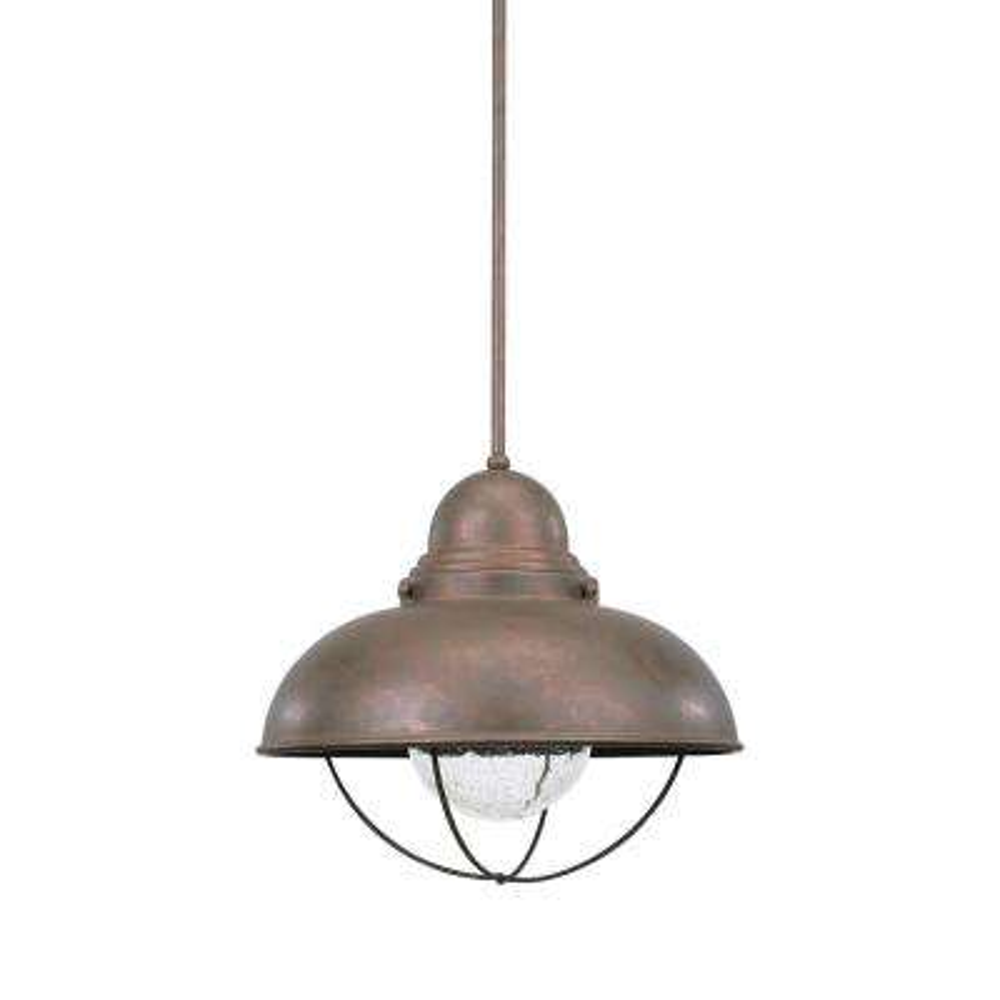 Sebring Weathered Copper Integrated LED Hanging Pendant