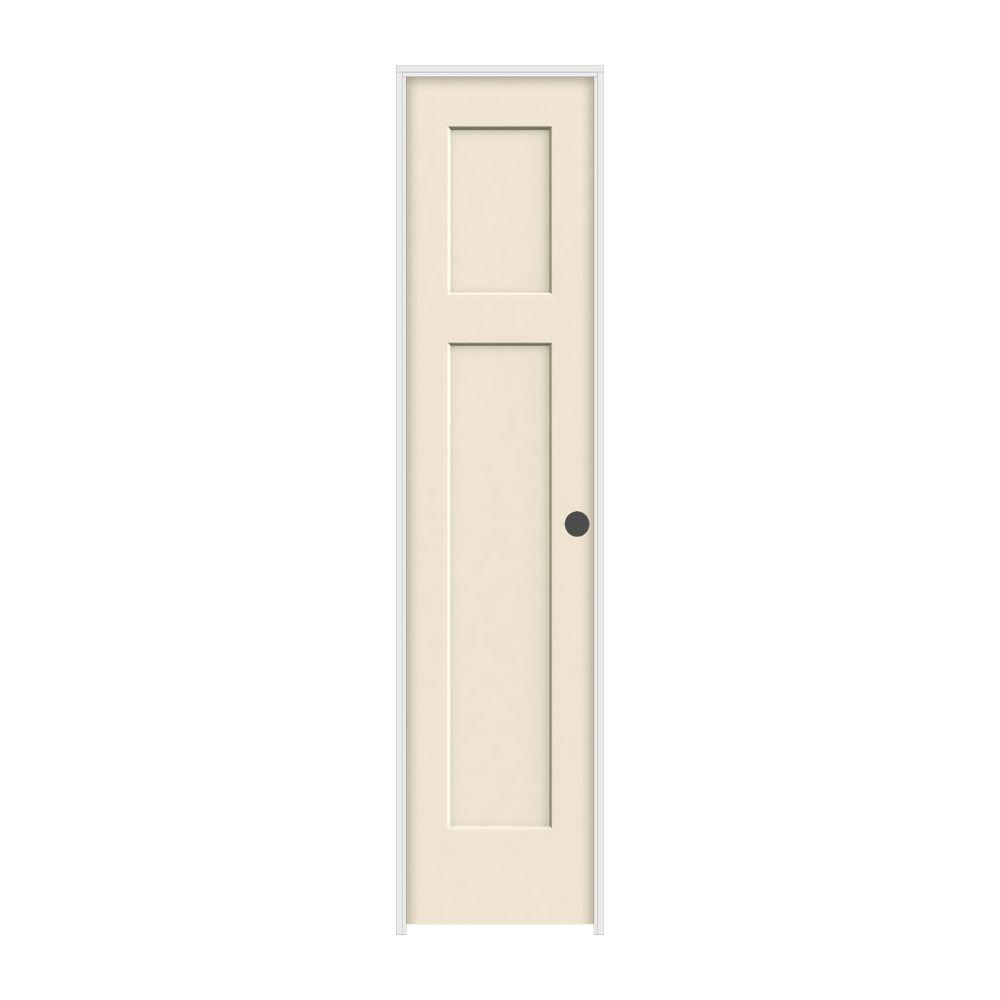 18 in. x 80 in. Craftsman Primed Left-Hand Smooth Solid Core