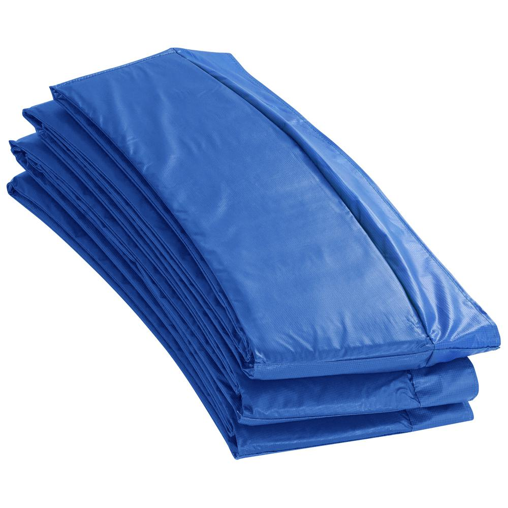 Upper Bounce 14 ft. W Blue Premium Trampoline Safety Pad Spring Cover Fits for 14 ft. Round Trampoline Frame