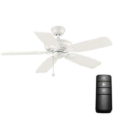 Heirloom 52 in. Indoor/Outdoor Matte White Ceiling Fan with Remote Control
