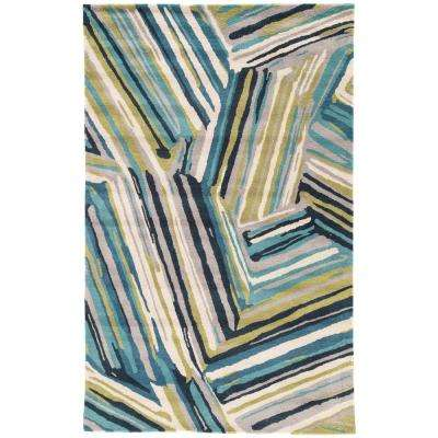 Brittany Blue 5 ft. x 8 ft. Abstract Area Rug