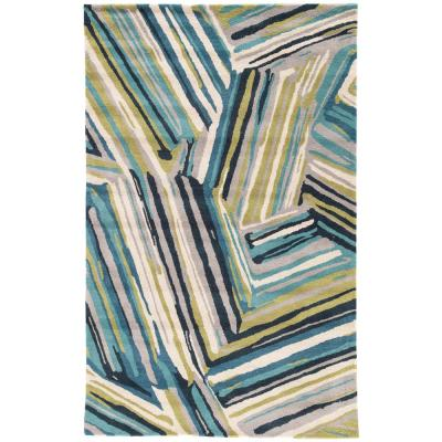 Brittany Blue 8 ft. x 11 ft. Abstract Area Rug