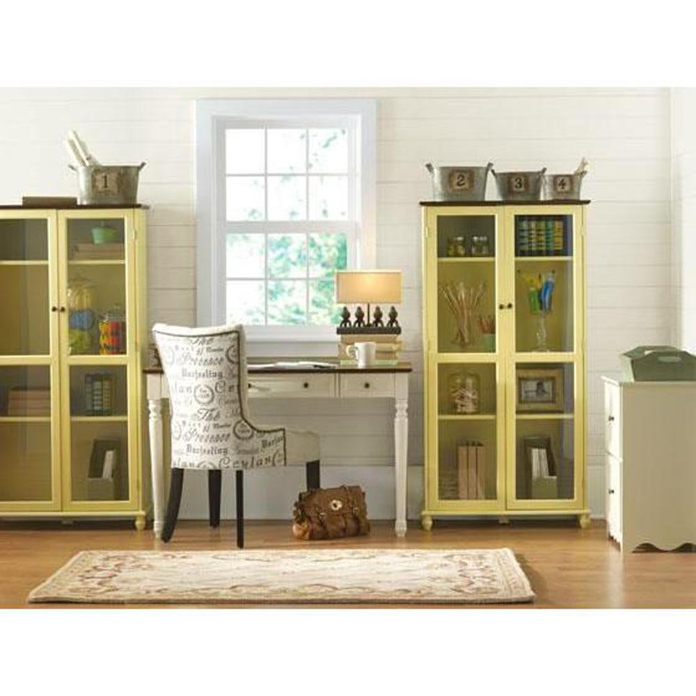 Home Decorators Collection 21 in. W Southport Ivory 2-Drawer Horizontal File Cabinet