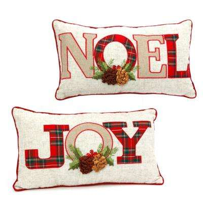 S/2 Asst 18 in.H Holiday Pillows