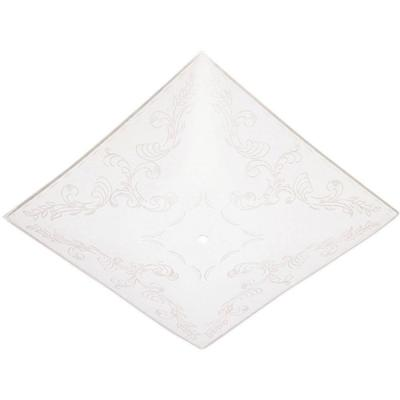 1-1/2 in. Square Clear Floral Design on White Diffuser with 12 in. Width